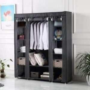 Brian & Dany Canvas Wardrobe Non-Woven Fabric Wardrobe
