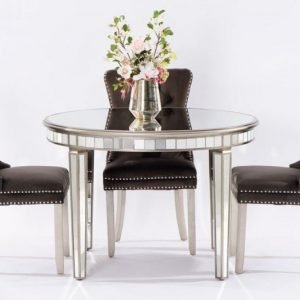 Antoinette Toughened Mirror Circular Dining Table