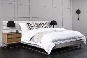 Barbican Bed Silver